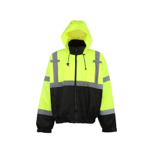 Reflective Safety Jacket with Detachable Fleece Lining