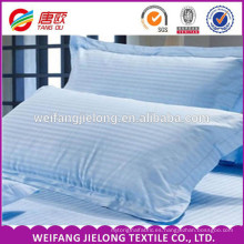 Tela de cama de hotel de alta calidad satén 100 tela de algodón a rayas 3 cm 1 cm tela de sábanas de hotel con raya statin 100% algodón blanco satinado