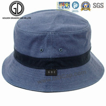 Famous Leisure Casual Microfiber Blue Bucket Hat with Middle Straps
