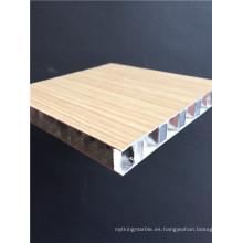 Paneles de panal de aluminio de madera de aspecto personalizado para decoración