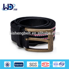Men casual strip canvas fabric belt