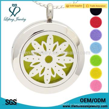 Ароматерапия ожерелье, цветок жизни духи медальон, эфирное масло диффузор ожерелье