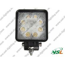 24W 3W * 8PCS LED Work off Road Light para ATV SUV Truck Escavadeira Empilhadeira Pencil Beam Light