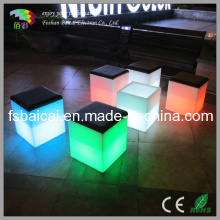 Changement de couleur LED Cube Chair / Chaise de jardin / chaise de bar