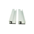 Home solar power system roof mounting rail