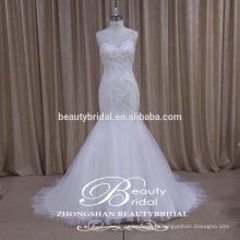 Glamour High Quality Sparkle Robe de mariée modérée de l'usine professionnelle de Chine
