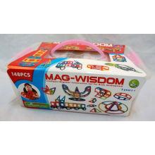 MAG-WISDOM arco-íris DIY magnético blocos brinquedos
