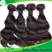 7А класс необработанные девственницы бразильские натуральный черный объемная волна волос