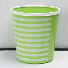 Plastic Printing Wastebasket Trash Can Containers 12L