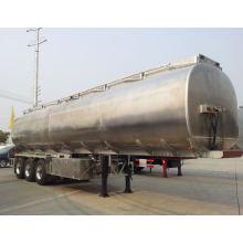 Reboque do transporte do leite do aço inoxidável no reboque do caminhão do leite 40tons
