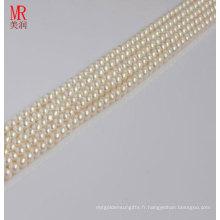 4-5mm Perles de perles naturelles naturelles Strands, boutons ronds