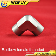 hydrogen gas stainless metal internal thread volume pipe elbow