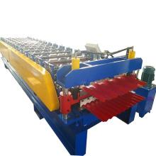 Rolo de telhado de dupla camada de aço cor dá forma à máquina