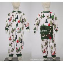 Familia de pijamas de la Navidad de la manera impresa fuente de alta calidad de la fábrica 2016