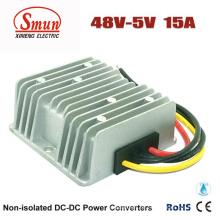 48VDC zu 5VDC 15A 75W DC-DC Konverter mit wasserdichter IP68