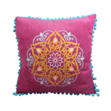 India and Pakistan style of rose red  cushion