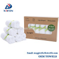 Stock lots 100% Bamboo baby washcloth 10x10inch white color