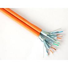 Câble Ethernet en cuivre solide blindé CAT6A SFTP avec données 10g / 500MHz