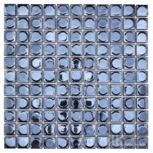 Dosseret carré en verre noir