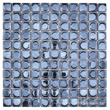 Square black glass backsplash