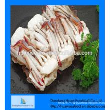 Crabe de natation bleu à moitié découpé de qualité parfaite