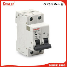 KORLEN new type KNB2-63S1 Miniature Circuit Breaker 10KA with CE CB SEMKO