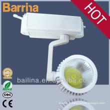 30W led indoor faisceau lumineux angle 45 degrés rail d'éclairage suspendu