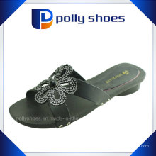 Born Black Leder Sandale Heel Slipper Größe 37