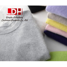 Jersey de calidad superior de la cachemira de la moda alrededor del suéter de la señora de los géneros de punto del cuello