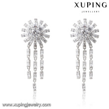 E-227 Fashion Luxury Cubic Zirconia Rhodium Jewelry Eardrop