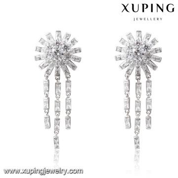 E-227 mode luxe zircon cubique rhodium bijoux Eardrop