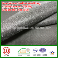 Interlining fusível não tecido de 70gsm