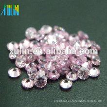 2.75mm forma redonda rosa cz zircon piedras sueltas
