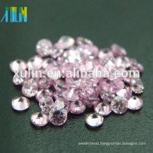 2.75mm round shape pink loose cz zircon stones