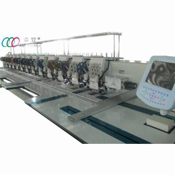 Mixtas 12 cabezas doble máquina plana del bordado de lentejuelas