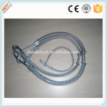Acier au carbone, acier inoxydable Whip check câble de sécurité fabriqué en Chine