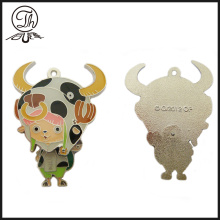 Cartoon soft enamel cute metal keychain