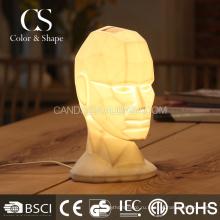 Элегантный портрет керамические настольная лампа для гостиной