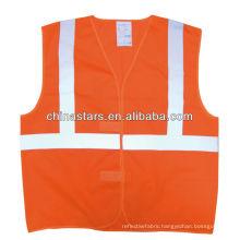 EN471 Class 2 and ANSI/ISEA 107-2010 Class 2 Orange High Visibility Vest