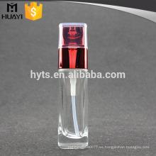 botella de loción corporal de botella de vidrio con spray de bomba matal