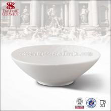 Weiße Runde Keramik Porzellan benutzerdefinierte gedruckten Abendessen Schalen Matcha Schüssel