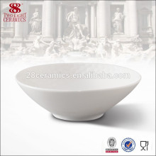 Tazón de fuente de matcha de cerámica redondo blanco de la porcelana de cerámica personalizada