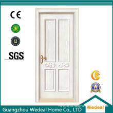 Puerta de MDF interior de madera maciza imprimada blanca para casas