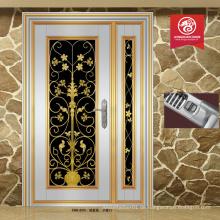 China fertigt neue Eingangstür Edelstahl Tür Design