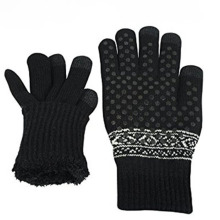 Promotional Custom Winter Acrylic Magic Knitted  Gloves