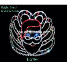 china crown comb tiaras for bride silver crystal crown