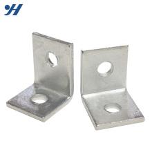 Suporte de ângulo galvanizado de dobra da qualidade segura de aço inoxidável, suporte de ângulo de aço