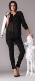 Pretty Steps 2017 high quality new fashion chiffon woman tops see through black sexy tops for ladies