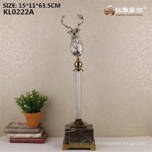 Vente en gros de l'usine de métal tête de chevreuil statue à vendre