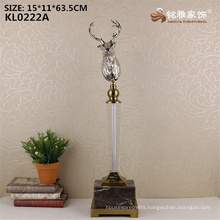 Wholesale factory price metal deer head statue for sale